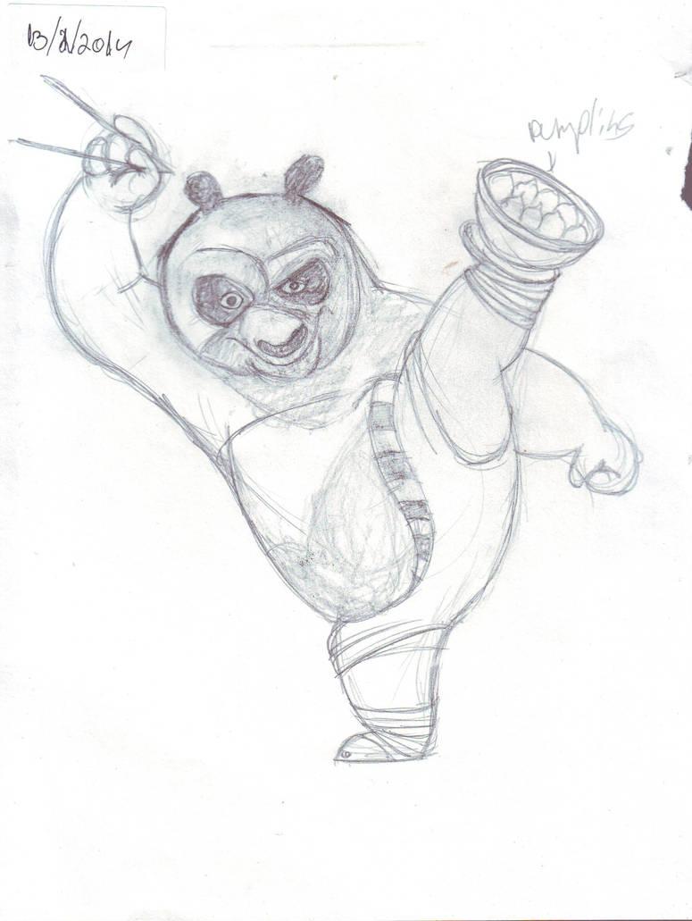 Kung fu panda sketch for speed drawind by IDROIDMONKEY