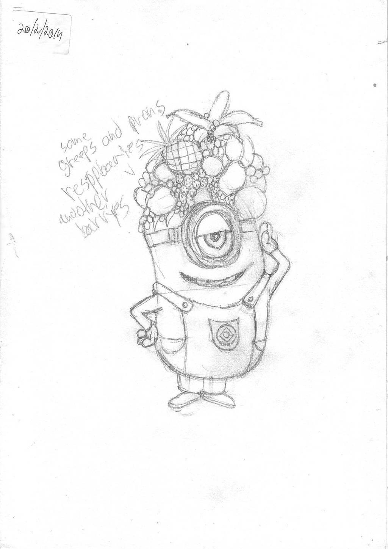 minion sketch by IDROIDMONKEY