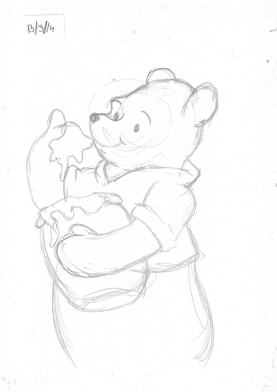 Winnie the pooh -speed drawing sketch by IDROIDMONKEY