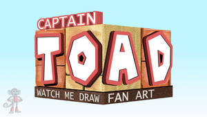 CAPTAIN TOAD SPEED DRAWING THUMBNAIL by IDROIDMONKEY