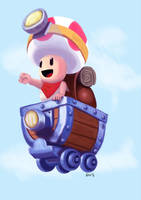CAPTAIN TOAD SPEED DRAWING+VIDEO by IDROIDMONKEY