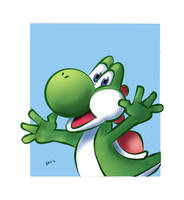 YOSHI SPEED DRAWING +VIDEO by IDROIDMONKEY