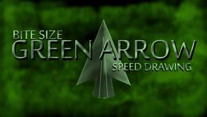 BITE SIZE GREEN ARROW SPEED DRAWING  THUMB+VIDEO by IDROIDMONKEY