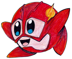 KIRBY AS THE FLASH SPEED DRAWING by IDROIDMONKEY