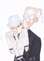 SCARFACE AND THE VENTRILOQUIST SPEED DRAWING+VID by IDROIDMONKEY