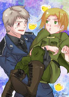 APH + Prussia x Poland by AtomicKitten13