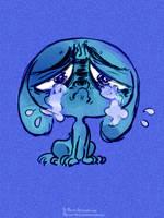 Sad Blue Puppy by AtomicKitten13