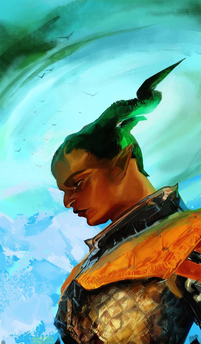 Dragon Age Inquisition - Qunari Herah by AtomicKitten13