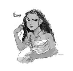 Moana sketch by AtomicKitten13