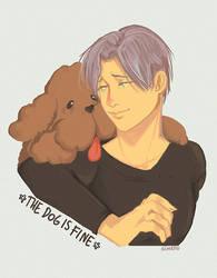 Speedpaint : Viktor and his dog by AtomicKitten13