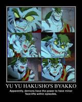 Parody Motivator: YYH's Byakko by SilverZeo