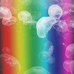 Rainbow Jellies by inkedacrylic