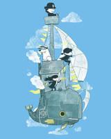 Threadless:Whale Ahoy by annamariajung