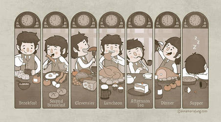 The Seven Daily Meals by annamariajung