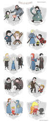 The Teams of Westeros by annamariajung