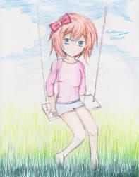 Sayori (Doki Doki Literature Club) by levelengine