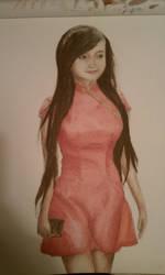 Elly Kim Hong painting by lenaleeku