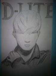 Daesung pencil drawing by lenaleeku