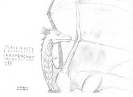 Layk - the silver dragon + dragon alphabet by Smokorys