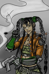 Navis from Sillage speed drawing by SimonPothier