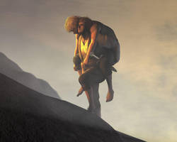 climbinh Mount Doom by TolmanCotton