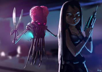 Alien barber by kiankiani