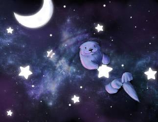 Starry Night Sea Otter by deadeyes-star