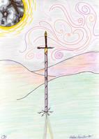 sword with glowing sky by lukeNroll