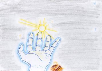 god's hand by lukeNroll