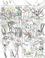 The DC Superheroes meet the Looney Tunes (Color) by multificionado