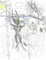 Batgirl Salmon Ladder (color) by multificionado