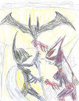Batgirl vs Batgirl (color) by multificionado