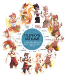 Telephone Art Game by Haeruh