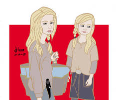 The Walking Dead - Lizzie and Mika by howardshum