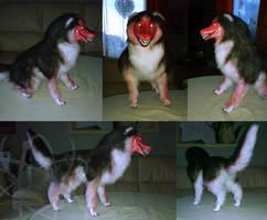 Smile Dog Posable Art Doll by Neutron-Quasar