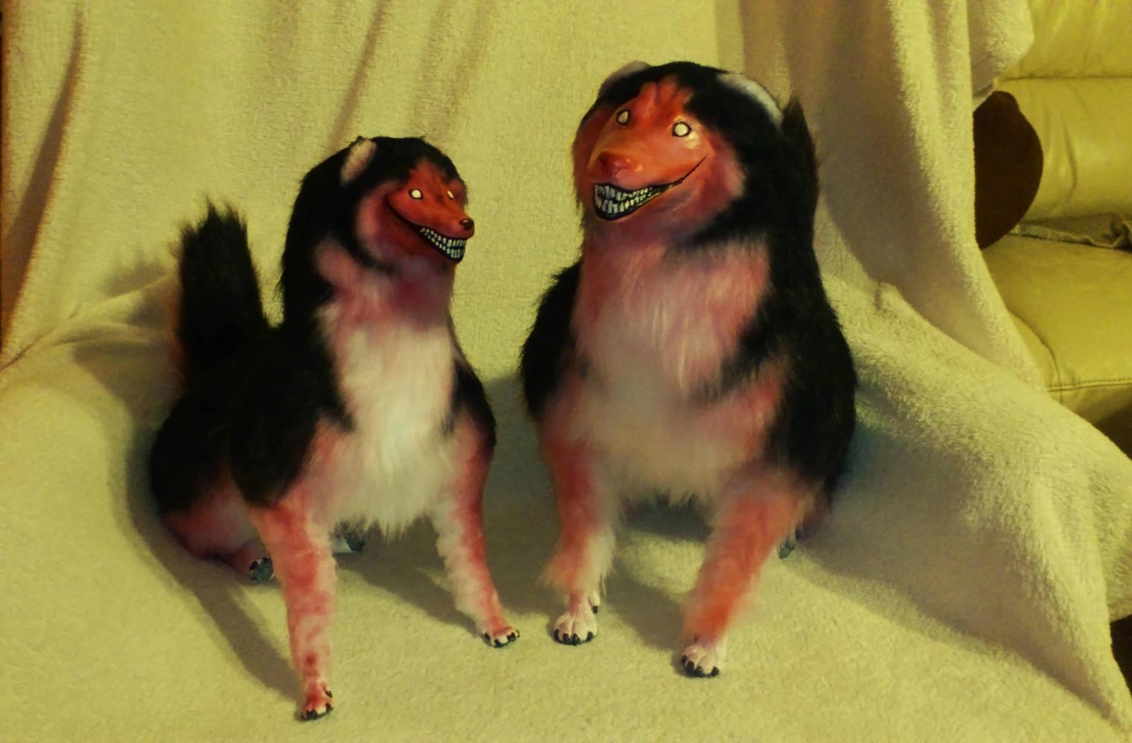 Big and smaller Smile Dog by Neutron-Quasar