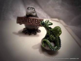 Tiny green dragon by thiefoftime