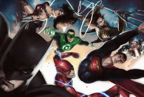 Justice League - Alex Ross Tribute by zg01man