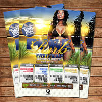 Pure rnb Party flyer poster by Adriano09