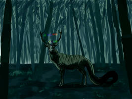 Scary deer by nihtgield