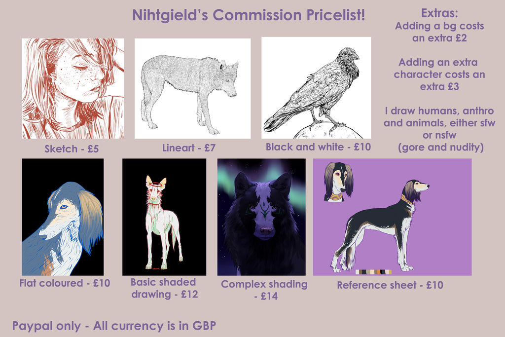 Commission Pricelist! by nihtgield