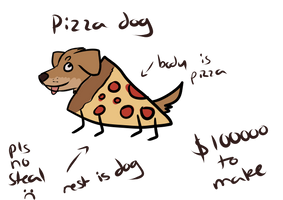 Pizza Dog (closed speciies) by nihtgield