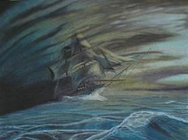 Ghost Ship by TylersArtShack