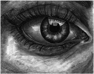 Realistic Human Eye by TylersArtShack