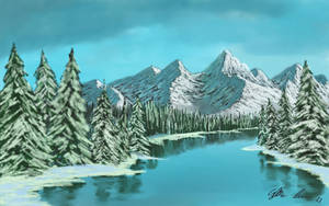 Snowy Landscape by TylersArtShack