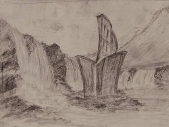 Sketch: Building Surrounded By Water by TylersArtShack