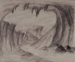 Sketch: Outside the Cave by TylersArtShack