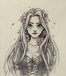 Roses in the hair by natalico