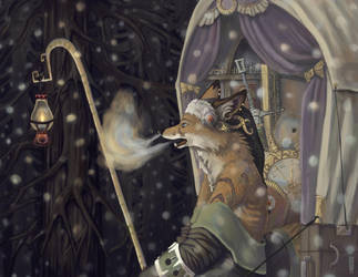 Vasska at First Snowfall by Zethelius
