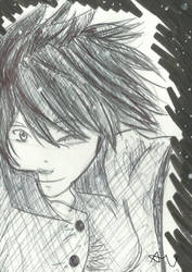 Random Ink and pen sketch by P4nda-Ch4n